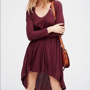 Intimately Free People Knit Hooded Shirt Dress M
